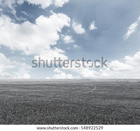 Asphalt road and sky #548922529