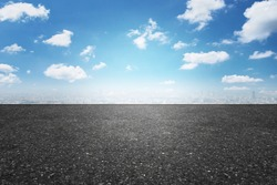 Asphalt road and sky cloud. An image of a milestone roadmap is a representation of success in the future goal