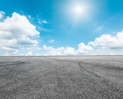 Asphalt road and sky cloud scenery