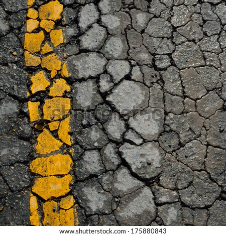 asphalt road crack texture background