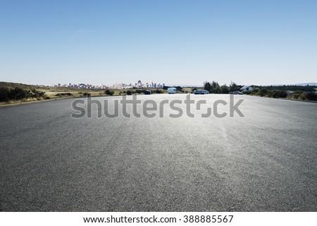 asphalt road in summer day in New Zealand