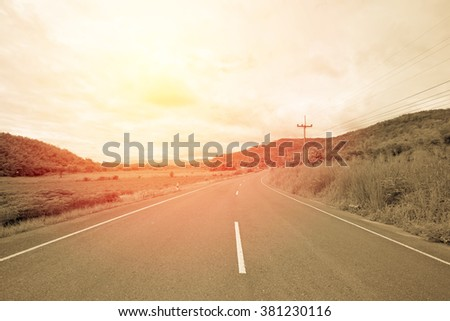 asphalt road in thailand....