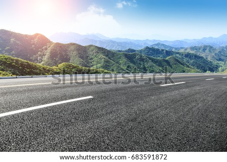 Asphalt road in the mountains #683591872