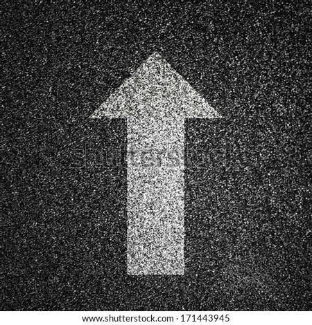 Asphalt Road Texture with Arrow