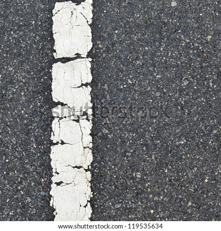asphalt road texture with white stripe