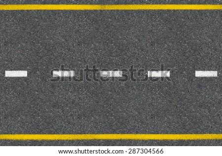 Asphalt road top view