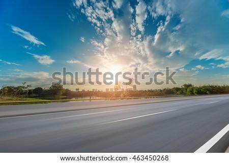 Asphalt road with beautiful sky  #463450268