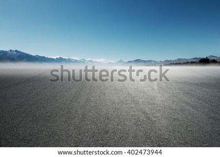 asphalt road with in summer day in New Zealand