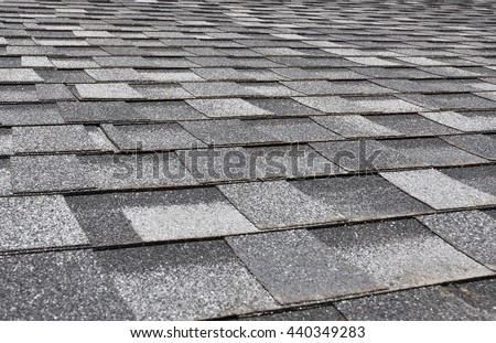 Asphalt  Shingles Photo. Close up view on Asphalt Roofing Shingles Background. Roof Shingles - Roofing Construction, Roofing Repair.