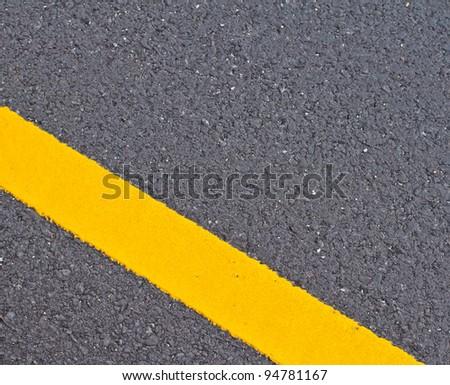 Asphalt street with color line marker