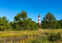 Assateague Lighthouse on Assateague Island in VA