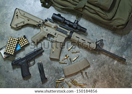 Assault Rifle with Pistol and Ammo