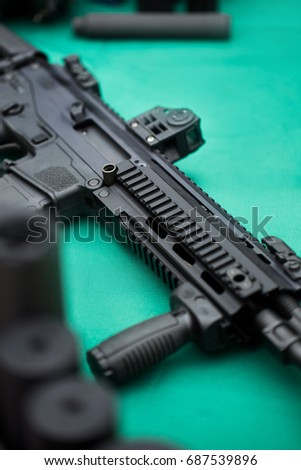 Assault rifle with silencer #687539896