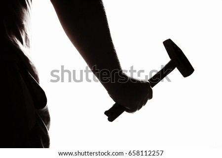 Assault with a hammer. Hand with a hammer. Murder with a hammer.