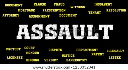 assault Words and tags cloud.  #1233332041