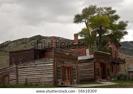 Assay office, city drug, and county courthouse turned hotel in the ghost town of Bannack