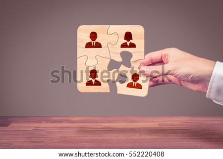assemble a team concept....