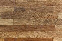 Assembled natural oak wooden blocks. Wood textured structure background