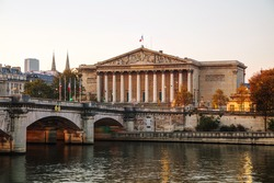 Assemblee Nationale (National Assembly) in Paris, France at sunrise