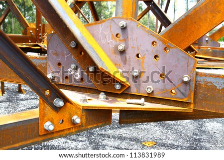 Assemblies of steel member for steel tower.