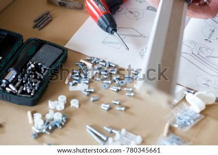 assembling flat pack furniture