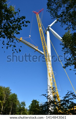 assembly of a wind turbine #1414843061