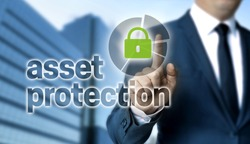 Asset Protection concept is shown by businessman.