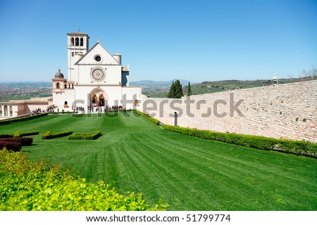 stock photo assisi italy church of st francis 51799774 - Assisi Italy Church