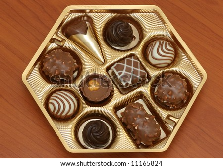 Assorted Chocolates - stock photo