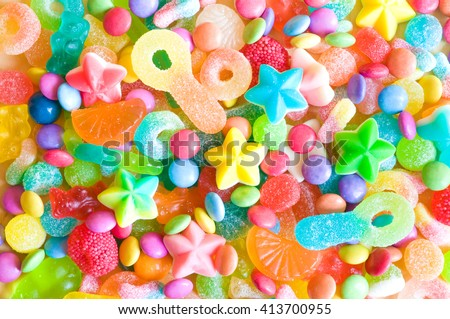 Assorted colorful candies