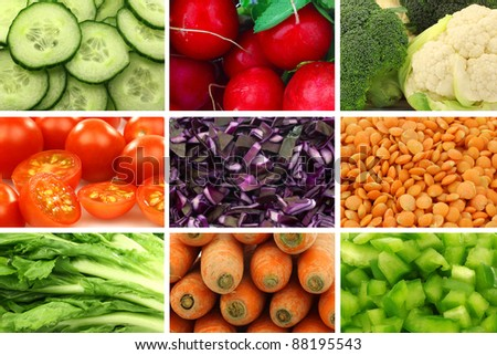 assorted colorful fresh and dried vegetables