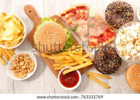 assorted fast food,junk food #763332769