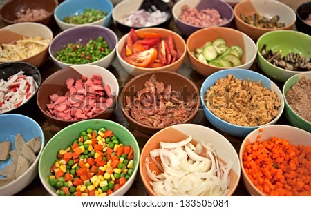 Assorted food - stock photo