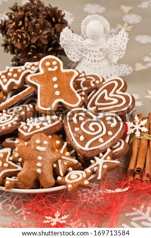 Assorted Homebaked Christmas Gingerbread Cookies