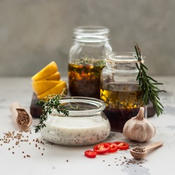 Assorted Meat Marinades: Buttermilk, Red Wine and Spiced Moroccan Style, square