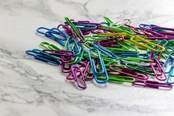 Assorted paper clips. Calgary, Alberta, Canada