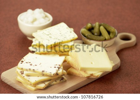 Assorted Raclette cheeses