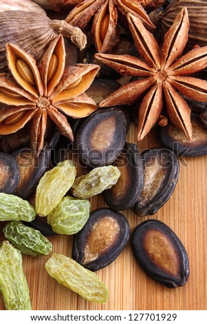 Assorted Seeds and Spices used in Asian Cooking