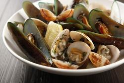 Assorted shellfish on a bowl.