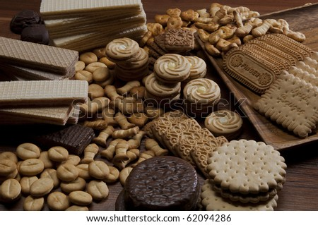 Assorted sweet wafer