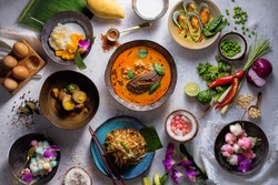 Assorted Thai traditional dishes