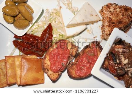 Assorted vegetarian starters