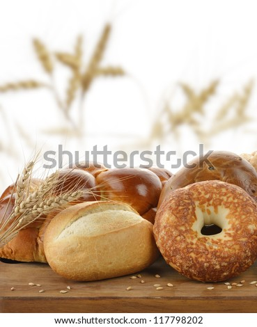 Assortment Of Bread On A Cutting Board