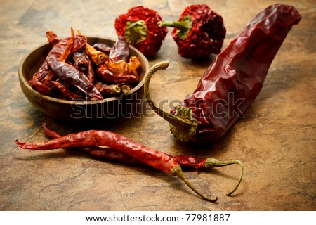 Assortment of chili peppers