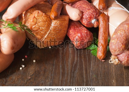 Assortment of cold meats
