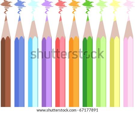 Assortment of color pencils