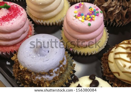 Assortment Of Delicious Ornately Decorated Cupcakes Ez Canvas