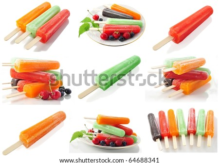 assortment of ice cream pops