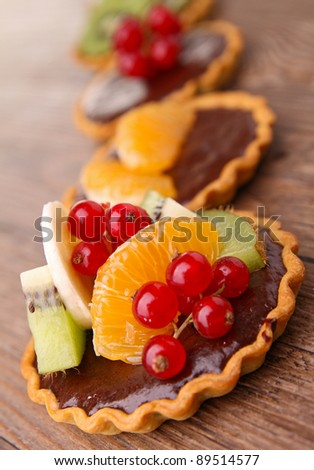 assortment of tart