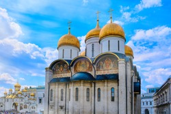Assumption and Annunciation Cathedral of the Moscow Kremlin - Moscow, Russia, June 2019